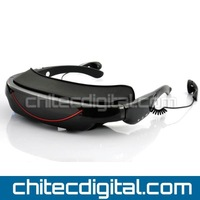 Wireless Video Glasses, Mobile Theater with 72inch 16:9 Wide Screen ,bulit in 4GB Memory ,Supports AV input Function