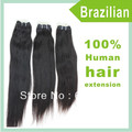 "Factory Price! 12""-30"" Real Brazilian Virgin Remy  Hair Straight Weaving Hair Extension Natural Black"
