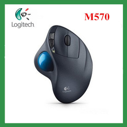 Free shipping Logitech Wireless Trackball M570 Mouse for PC &amp; MAC wireless mouse optical mouse 2.4ghz mouse usb mouse(China (Mainland))