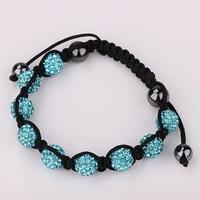New Hot!! Austrian Crystal Shamballa Bracelets Micro Pave CZ Disco Ball Shamballa Beads Women Bracelet 10mm Jewelry & Bangles