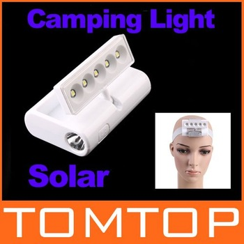 Outdoor Mini Portable Rotatable Solar Emergency LED Camping Lamp light Flashlight SOS H8450 Freeshipping Dropshipping Wholesale