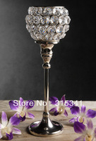 "Free shiping(30pcs/lot)crystal wedding centerpiece/ crystal candle holder /11"" tall x 4"" wide"