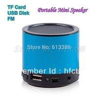 USB/TF/FM Aluminum Alloy Portable Mini Speaker, Free Shipping