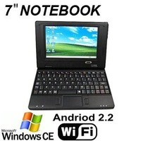 10 pcs DHL free shipping!!!New Cheapest 7 inch Netbook with VIA 8650 800MHz 4GB WIFI 3G