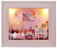 mini wood doll house ,Dollhouse Furniture Miniature ,doll house furniture miniature Princess Room free shipping