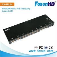 4 by 4HDMI  Matrix  W/ IR Control and EDID Setting Function Compliant