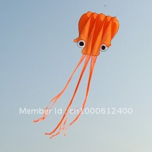 Free Shipping!!hot sale 5.5 m single Line Stunt Red Octopus POWER Sport Kite