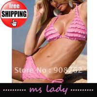 Fashion woman Sexy bikini Hot swimsuits Ladies swimwear beachwear 2 color HK airmail