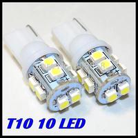 2014 Rushed Promotion Wholesale 10pcs/lot T10 194 168 192 W5w 3528 Smd 10led Super Bright Auto Led Car Lighting/t10 Wedge Lamp