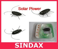 5pcs/lot Novelty Item Educating Solar Toy Solar Power Energy Cockroach Fun Gadget Office School free shipping