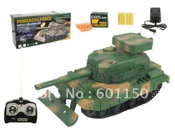 2012 Xmas rc Tank toys with soft plastic bullet, infrared controlled remote toys, free shipping by china post