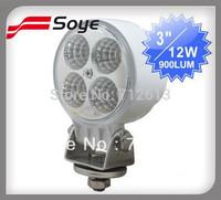 12w high power led off road light, automatic led driving lights, 4x4 led universal headlights for trucks/atv/utv/tractor