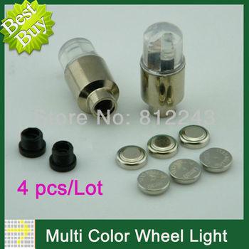 4pcs LED Flash Light Neon Lamp Night Bike LED DRL Daytime Running Lights Car Tire Tyre Wheel Light Valve Caps Dropshipping