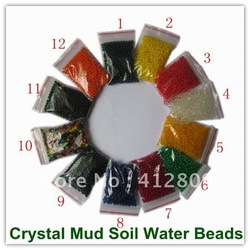 5g /Bag Magic Crystal Mud Soil Water Beads for Flower Garden Planting 50Bags/Lot(China (Mainland))