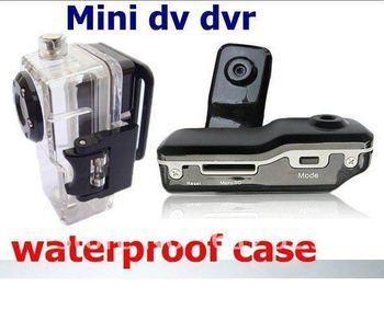 2012 Hot Selling Mini DVR Sports camera, MD80 Mini video DVR Camera & Mini DV with waterproof case FreeShipping China Post