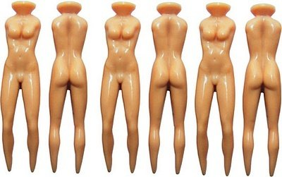 Free Shipping! 10PCS+New Golf Joke Tees Funny Nuddie Nude Lady Novelty Christmas Gift Secret Santan Hot