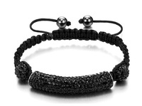 Boyfriend's Gifts! Wholesale Tube Shamballa Bracelets Jewelry Top Quality Crystal Paved Man's Bracelets Bangles BR73