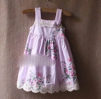 Baby girls' dress kids catimi* flower summer vest tank dresses 0707 B zx