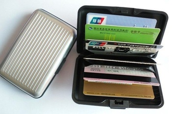 wholesale (5pcs/lot)  reach Aluma Credit card wallet cases ( 5colors available) card holder ,bank card