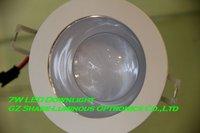 Professional! White housing 7W COB Epistar Led Down Light Lamp with warm white(2800K) Free Shipping