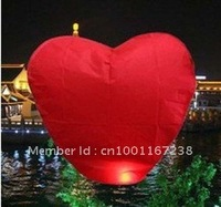 free shipping 30PCS/lot  RED Heart Sky Lanterns Wishing Lamp SKY CHINESE Paper LANTERNS for BIRTHDAY WEDDING PARTY