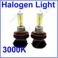 Free Shipping 2x H11 12V 55W 3000K Golden Yellow Head/Fog Light Bulb Lamp Halogen Wholesale