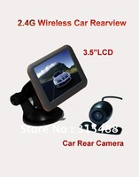 3.5 inch  TFT monitor + 2.4G wireless car Rear View Backup Waterproof camera cam