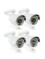 "Free shipping  , 4pcs   1/3""  Sony  Exview  CCD 700 TVL,  20meters IR visual distance Weatherproof  camera"