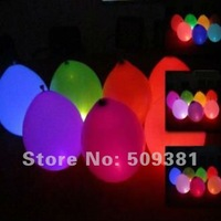 200 pcs/Lot, Free Shipping, Led Light Flashing Balloons, Chinese Conventional  Festival Balloons, Wedding Decoration, 5 Colour