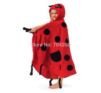 Retail-BEE LADYBIRD BUTTERFLY/Baby bathrobes/chidlren's bath towel/infant hooded bathtowel/Animal cartoon/modeling bath robe