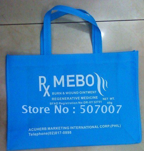 500pcs non woven bag can be with your custom LOGO for shopping bag(China (Mainland))