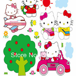 Hello Kitty Room Nursery Wall Decors Baby Room Mural Removable stickers(China (Mainland))