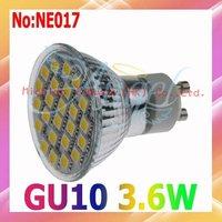 Free shipping AC 220V 5050 SMD 3.6W GU10 LED Spot Light  320LM  3 year Warranty #NE017