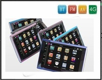 Newest!!! Free shipping 7 Inch TFT screen Car GPS with BT,FM,AV-In functions