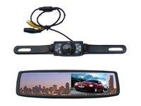 Free shipping!!4.3 Car LCD Monitor Mirror Waterproof IR Reverse Car Rear View Backup Camera Kit
