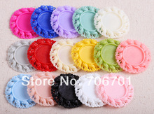 Bowise Free Shipping 34mm Inner Size 25mm 16 Colors Flat back Resin Cameo Frame 50 pcs/lot(China (Mainland))
