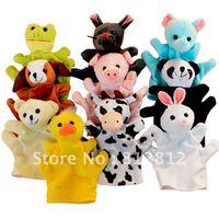 10 Pc Plush Hand Puppet toys Animal finger Puppet Set includes:Elephant,Panda,Duck,Rabbit,Frog,Mouse,Cow,Bear,Dog,Pig