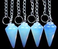 Wholesale (10 pieces/lot) opal opalte Pendulum semi-precious jewelry pendant bead