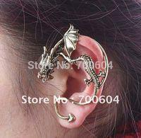4pcs/lot New Fashion Punk winding ear cutt jacket Dragon Vintage Earrings for women,plated silver Single Clip Ear,factory supply