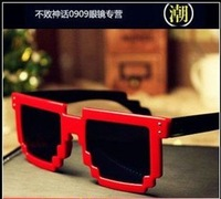 50ps/lot 7 colors Free Shipping 2012 Code Programmer Pixelated 8-Bit Black Sunglasses CPU Gamer Geek Designer Sunglasses