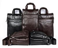 Wholesale Genuine Leather + PU shoulder bag/men's briefcase [ Black & Brown & Coffe ]