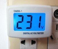 Free shipping,80-300V AC LCD Voltmeter Factory Switch eu Round Plug AC Voltage 110V/220V 240v