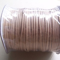 Free Shipping, 100 Yard ,Light Brown / Tan , Wax Nylon Thread , Necklace cord ,2.0 mm