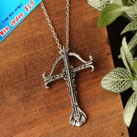 Free Shipping Tin Alloy Punk Gothic Cross Pendant Vintage Necklace For Jesus  Min Order $15 (can mix order)