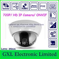 GXL,1 Megapixel IP Camera,h.264,720P,Waterproof,Low-illumination Dome Security Camera,C3DA720PL (3720D-PD) lens 3.6/6mm optional