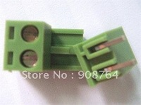 Free shipping Green color electrical connector 2Pin 5.08mm Terminal Block Connector staightneedle