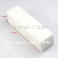 10PCS/Lot White Acrylic Nail Art Tips Buffer Buffing Sanding Files Block Pedicure Manicure Care Tool