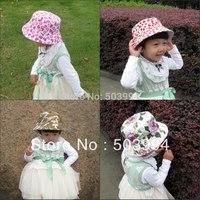 New Cartoon hat fashion children travel cap girls bucket summer hat  (CMH-1)