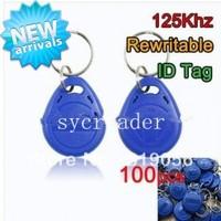High Quality 100pcs/Bag 125Khz RFID Rewritable Proximity ID Card Token Tag Tags Rewrite Key Keyfobs for Access Control