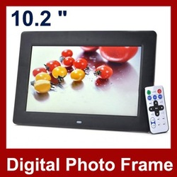 10.2 inch LCD Digital Photo Frame With 1024x768 Mp3 Mp4 Remote Control Multi-functional Picture Frame Free Shipping(Hong Kong)